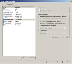 settings network card