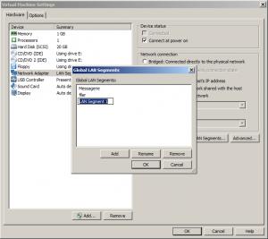 LAN Segments configuration