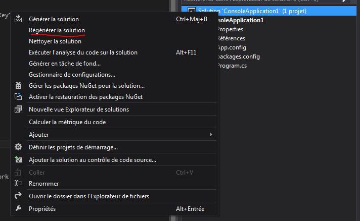 SQLiteEF_12 - RegenerateSolution