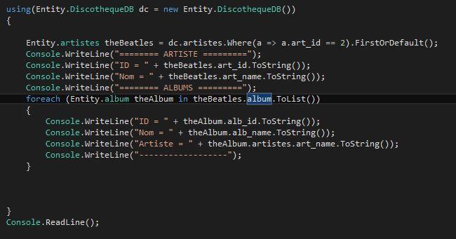 SQLiteEF_19 - Code LinQ