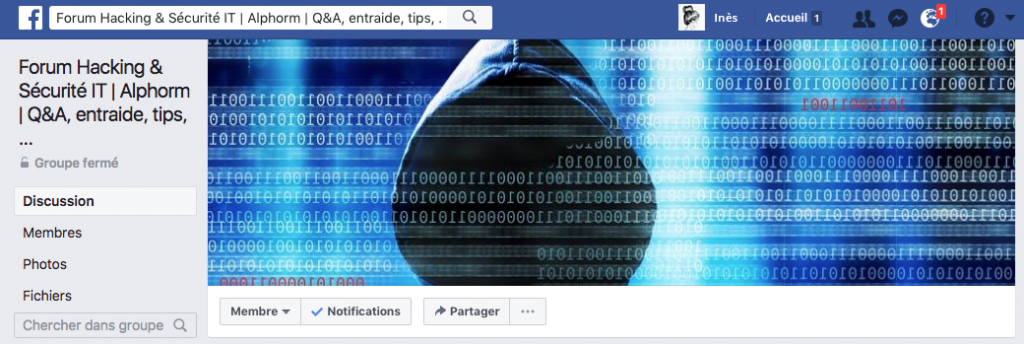 Groupe Facebook Alphorm Hacking et Sécurité IT