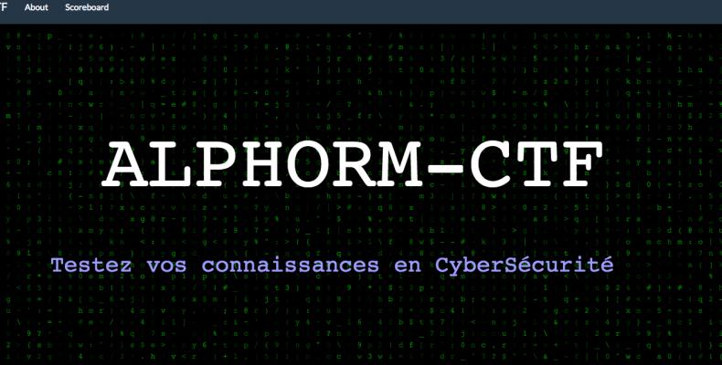 plateforme CTF Hacking Challenge Alphorm