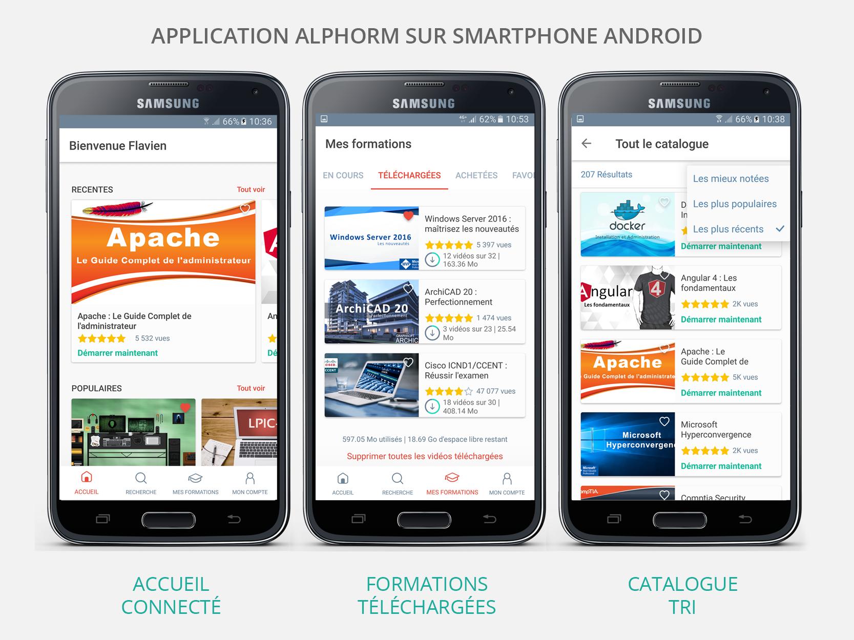 Nouvelle Application Alphorm pour Smartphone Android