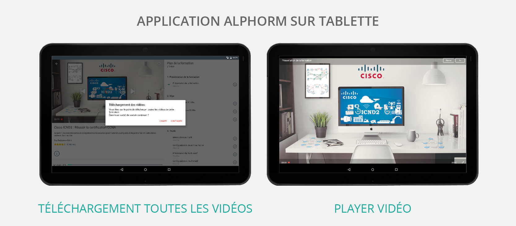 Application Alphorm disponible pour iPad et Tablette Android